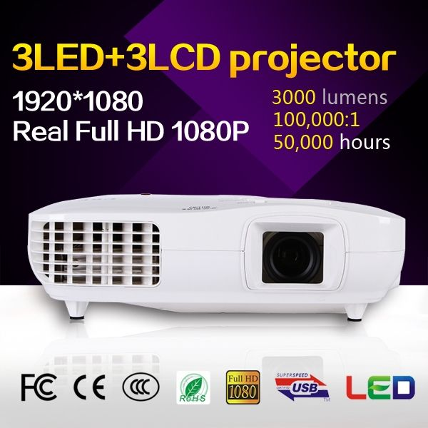 720.00$  Watch here - http://alif4c.worldwells.pw/go.php?t=1000003110066 - Full HD Projector 1080P 1920x1080 Multimedia Player LED Projector Built-in 0.74inch 3 LCD Beamer For Family Cinema 720.00$