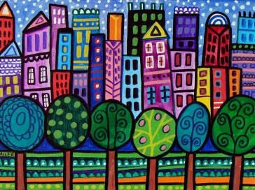 Abstract Modern City Art NYC New york Print by HeatherGallerArt, $24.00