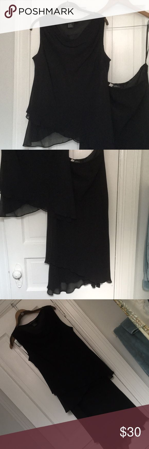 Jones New York 2-piece Dress Classic little black dress look, but it's a match…