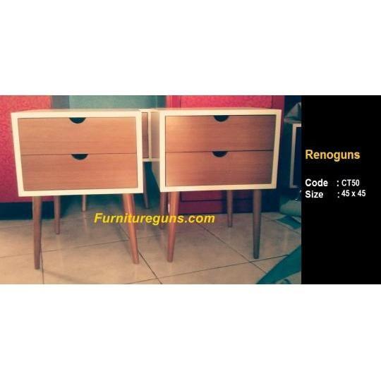 cabinet / nakas retro  ukuran total 45 x 45 finishing Cat duco Rp 900.000,-