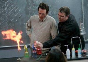 10) Walter White em sua primeira aula de química