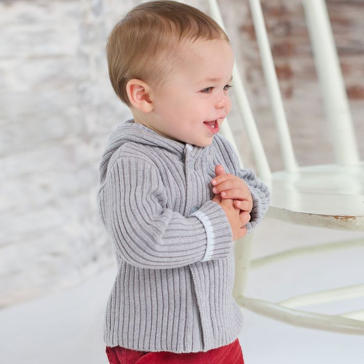 Knitted Baby Cardigan - Sweaters and Cardigans for boys | Dave Bella Kids Clothes UK