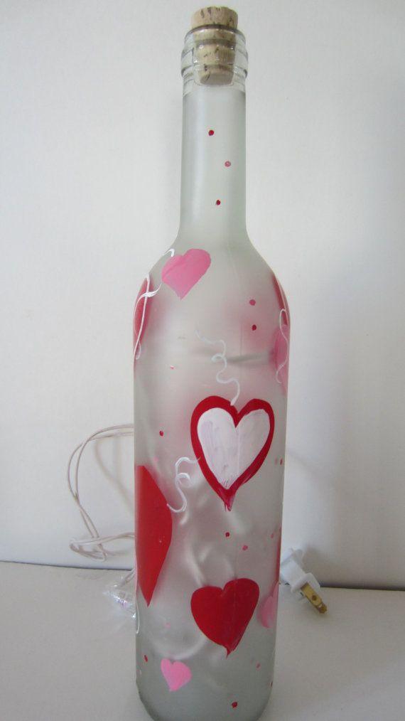 1000 ideas about lighted wine bottles on pinterest for Cute wine bottles