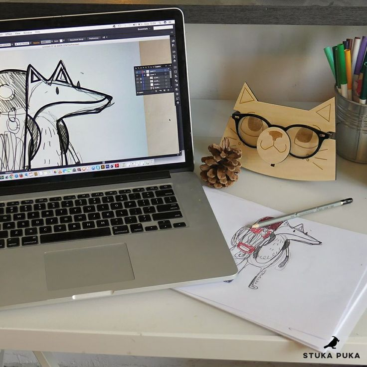 cat stand for glasses kedi wood eco handmade illustration lasercut fox workplace #cat #lasercut