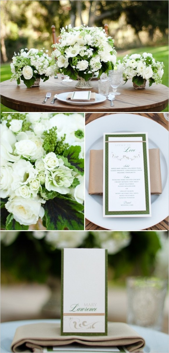 Kelley Green Wedding Color Palettes