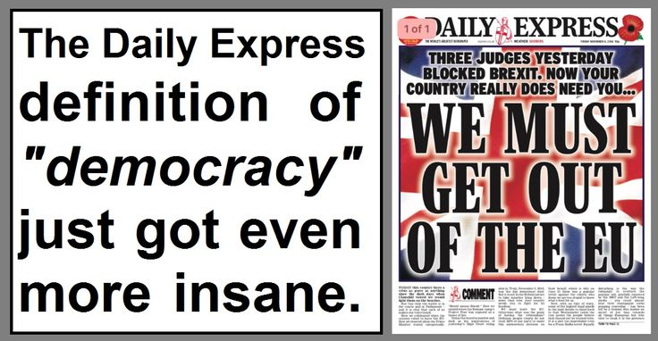 It's just a few weeks ago that hacks at the Express decided to update their definition of democracy to include the dictatorial insanit...