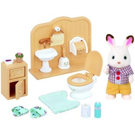 Set Broer Chocoladekonijn (badkamer) / Chocolate Rabbit Brother Set