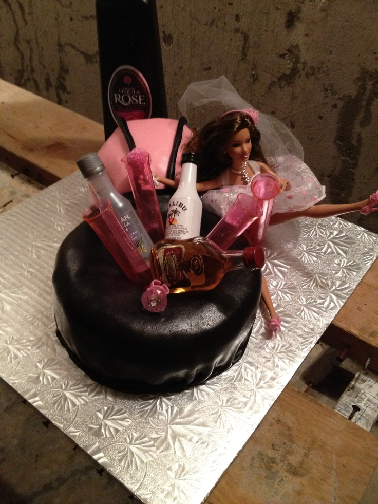 Bachelorette Cake Drunk Barbie Bachelorette Party Ideas