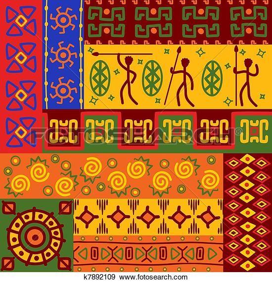 Clip Art - abstrakt, ethnisch, muster, und, verzierungen k7892109 - Suche Clipart, Poster Illustrationen, Zeichnungen und EPS Vector grafische Bilder - k7892109.eps