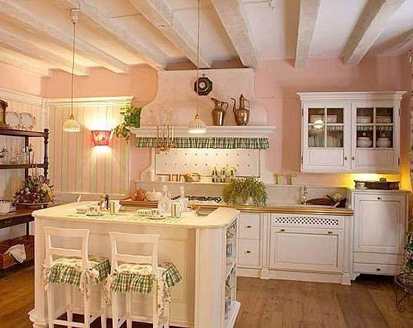 Risultati immagini per arredamento cucina provenzale rosso