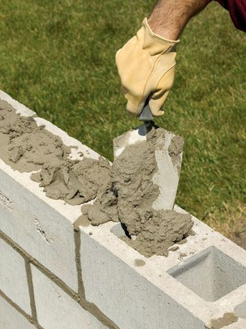 Build A Concrete Block Wall Pinterest And Walls
