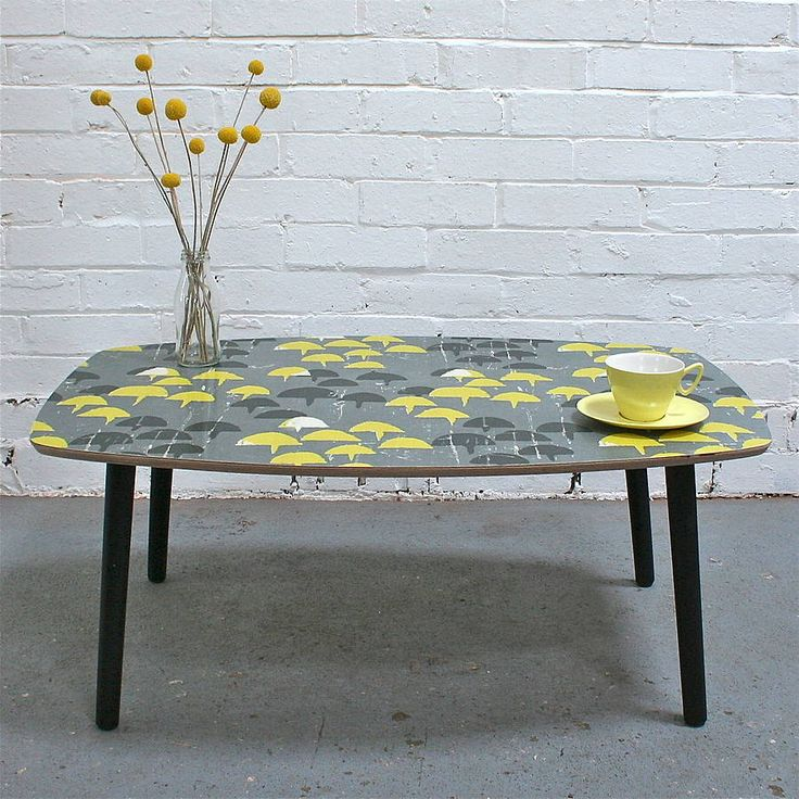 Vintage Fabric Coffee Table In Haddon notonthehighstreet.com