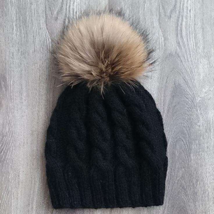 шапка, вязанная шапка, зимняя шапка, шерстяная шапка, шапка с помпоном