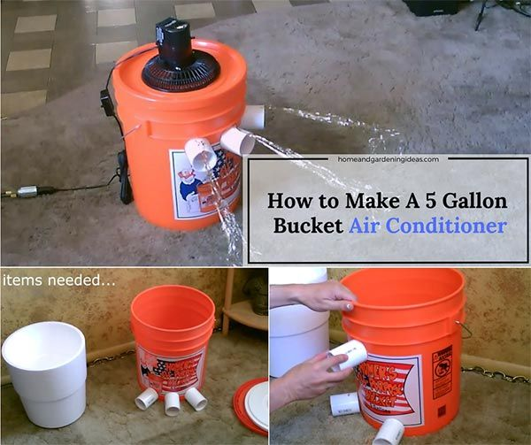 How to Make A 5 Gallon Bucket Air Conditioner - I love five-gallon buckets they have so many uses. all you need for this project is a five gallon bucket and a small desk fan. These two times can be used to make a simple and portable bucket air conditioner.