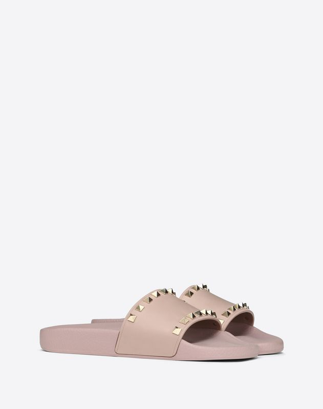 a5e9a231ea9 Rubber Rockstud Slide | Heels and Slides in 2019 | Valentino women ...