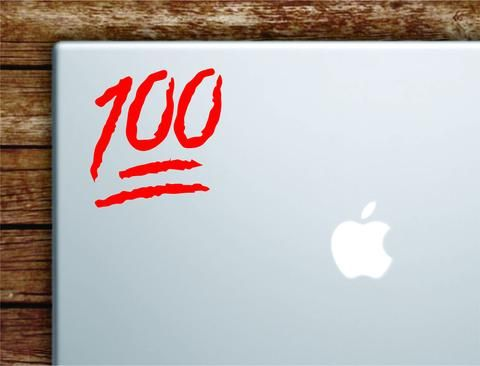 100 Emoji Laptop Apple Macbook Car Quote Wall Decal Sticker Art Vinyl Inspirational Motivational Funny 1 hunnid