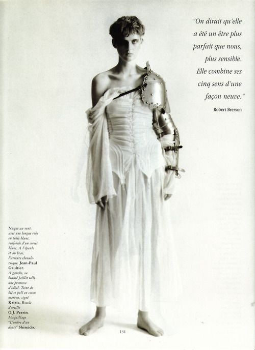 Armor: Stella Tennant, February 1994, Paolo Roversi, Vogue Paris, Passion For, Jeanne D Arc