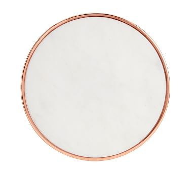 marble and copper lazy susan potterybarn