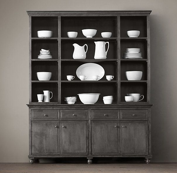 DIY Woodworking Ideas Zinc Sideboard & Hutch for breakfast room (or in wood and white)#diyprojects #di...