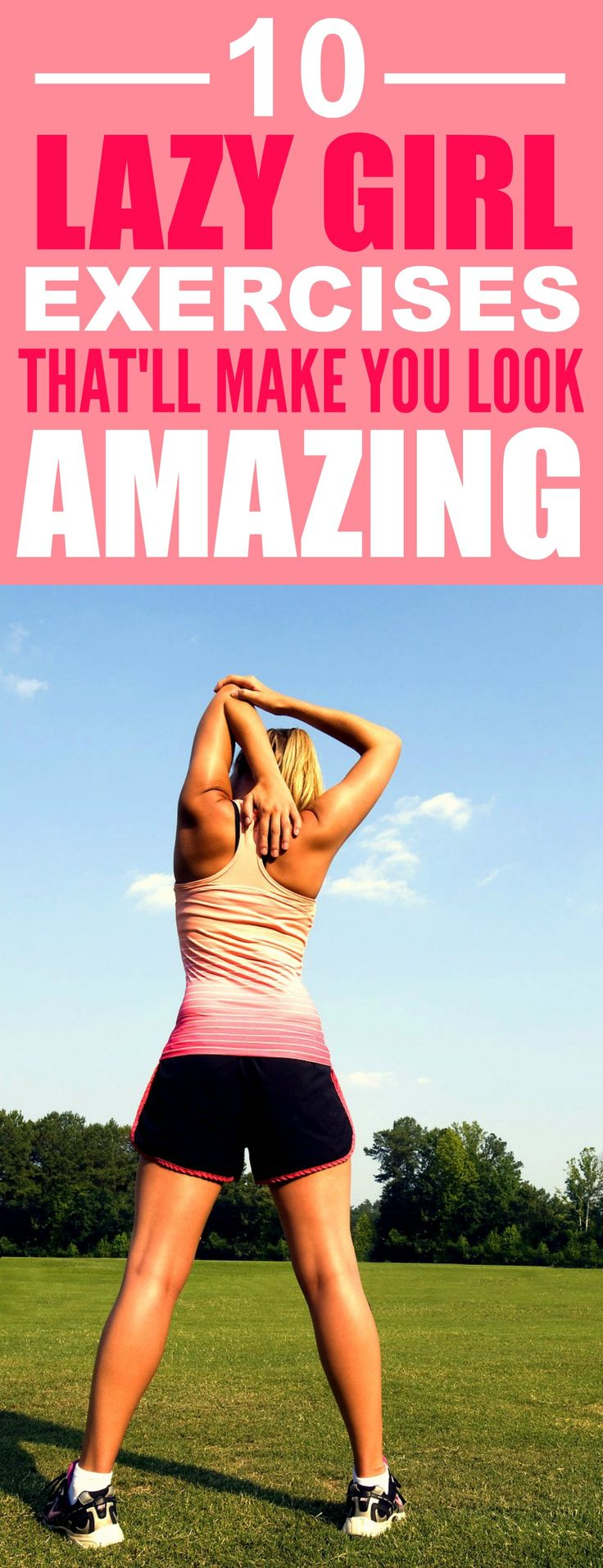 These 10 Lazy Girl Exercises are THE BEST! I'm so glad I found these AWESOME tips! Now I can actually lose weight on my own pace! Definitely pinning for later!