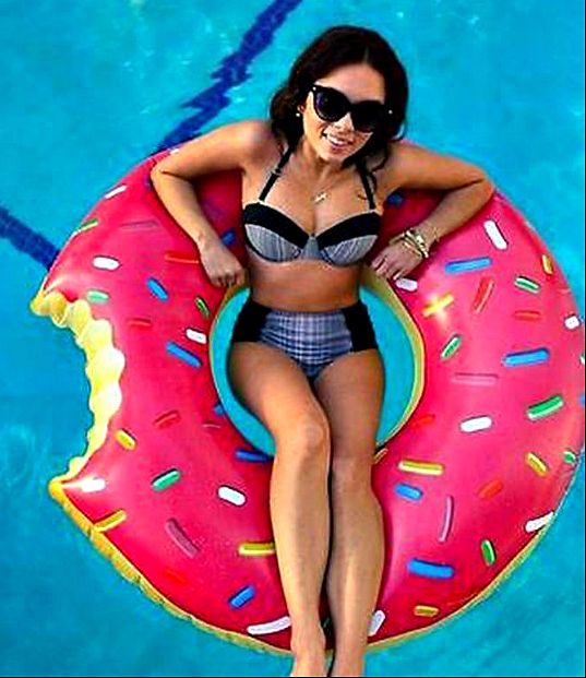 """Pink Donut Swim Float Ring Summer Water Sport Inflatable Pool Toy """" FREE SHIPPING """""""