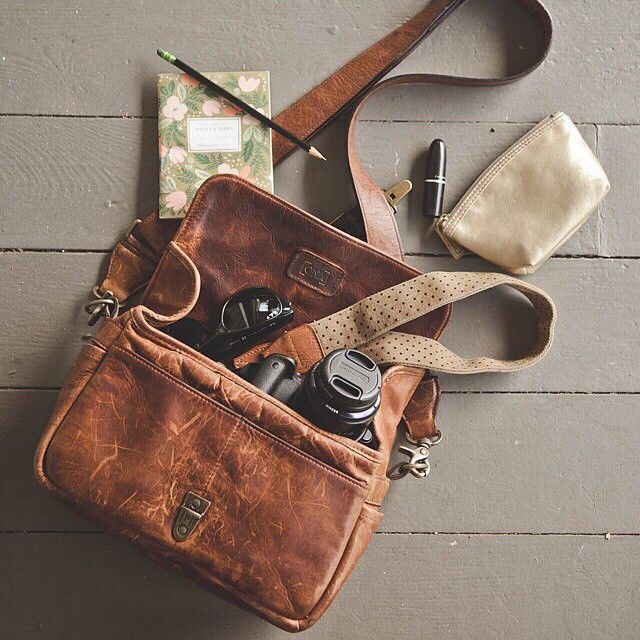 The ONA Bowery camera bag in Antique Cognac is our favorite go-to bag for all of the days essentials.