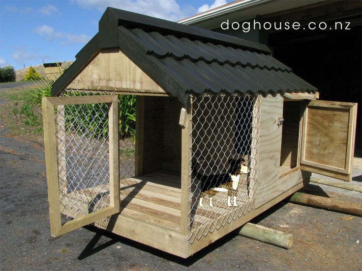 Large Dog House Plans Free Fully Enclosed Dog Kennel And