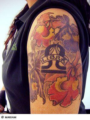 Libra sign tattoo