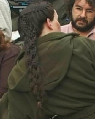 Arwen's braid from her cut scenes at Helm's Deep. Wish they could have used it somewhere else in the movies.