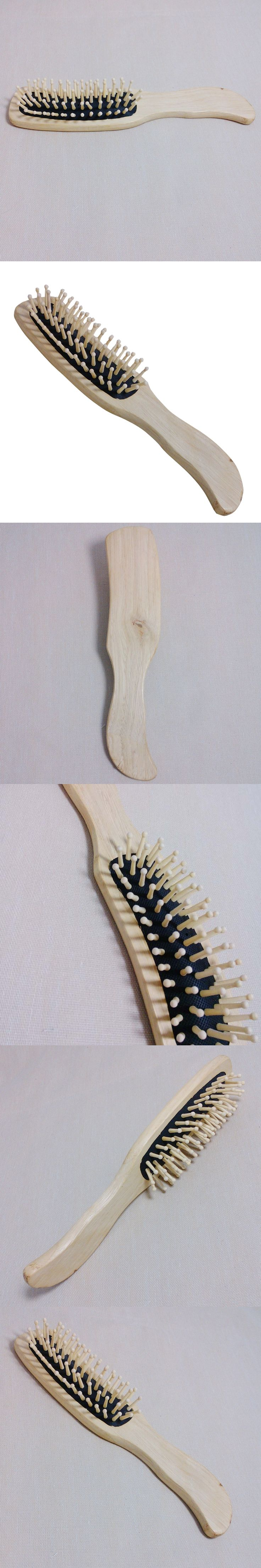 Natural Bamboo 1Pc Wooden Hair Vent Paddle Brush Hair Keratin Care Spa Massage Antistatic Comb Styling Brushes Tools YF2017