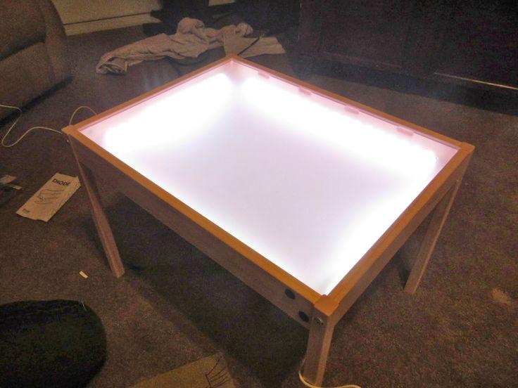 De 25 bedste id er inden for diy light table p pinterest - Table lumineuse ikea ...