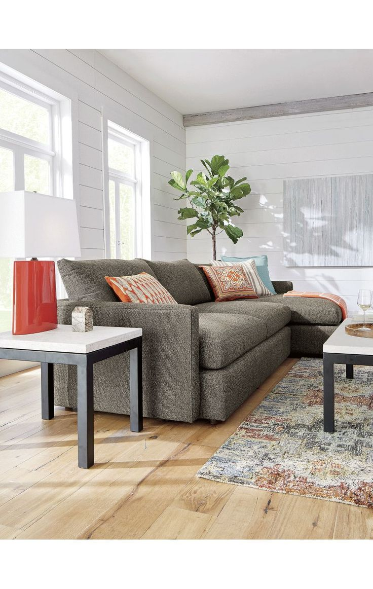 Living room decorating ideas with sectionals - Lounge Ii 2 Piece Sectional Sofa Crate And Barrel
