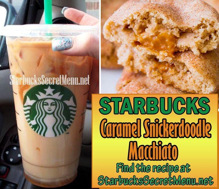 Starbucks Caramel Snickerdoodle Macchiato! So tasty! #StarbucksSecretMenu Recipe here: http://starbuckssecretmenu.net/starbucks-secret-menu-caramel-snickerdoodle-macchiato/