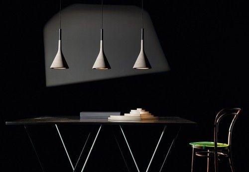 Aplomb Sospensione elongated multiple canopy 135cm 3 lamps