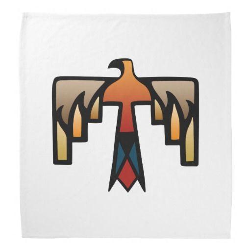 Thunderbird - símbolo do indiano do nativo bandana