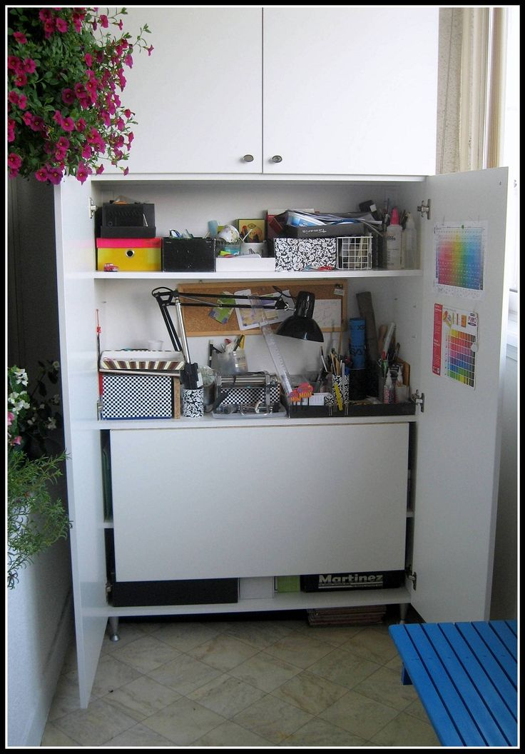 My Fimo Kitchen: Enclosed Cabinet With Fold Out Table