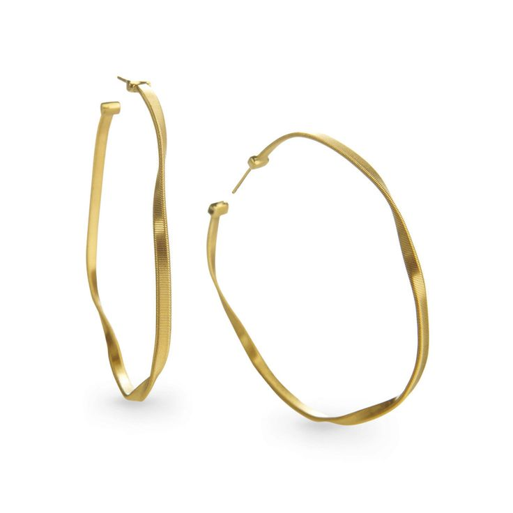 Marco Bicego Marrakech Supreme Small Hoop Earrings in 18K White Gold ICOu3