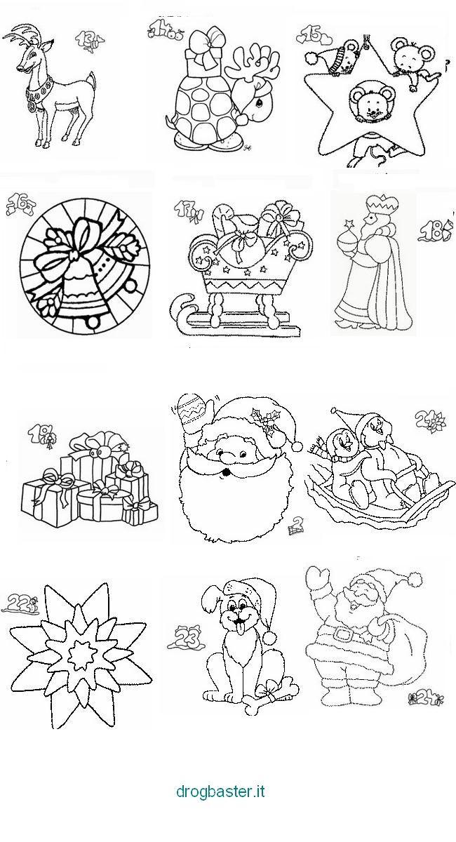 Disegni Natalizi Per Bambini Da Colorare Presepio Albero Di Natale