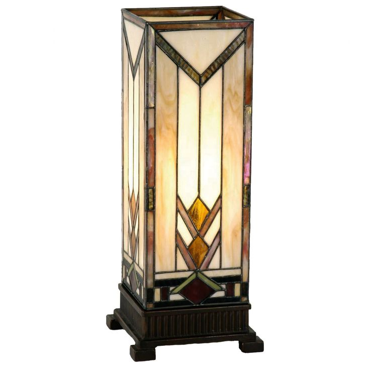 Prairie Tiffany Large Square Table Lamp by Interiors 1900. Discover our Range, special offers of Tiffany Lamp, Art Deco and Traditional Lighting , free delivery.
