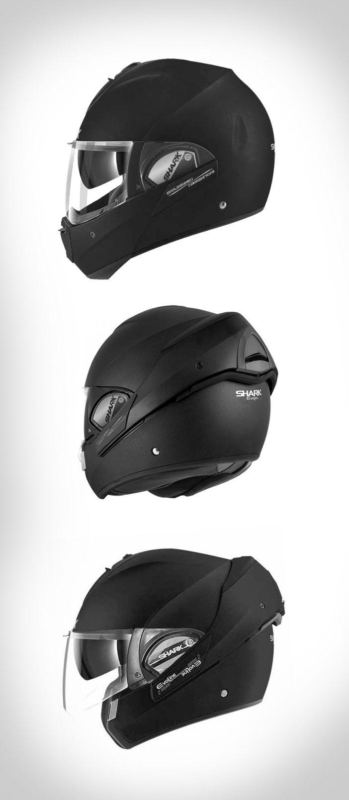 Shark Evoline 3 matte black, what a beautiful and practical helmet!