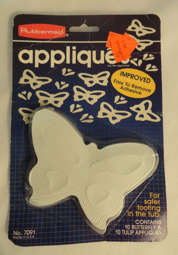 Exceptional Vtg Rubbermaid Rubber Butterfly Tulip Appliques No Slip Bath Or Sink On  Etsy, $4.00
