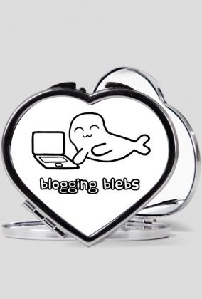 Blogging Blebs heart-shaped mirror #seal #seals #bloggers #mirrors Other merchandise with this design: https://whattheblebs.cupsell.com/k/blogging-blebs