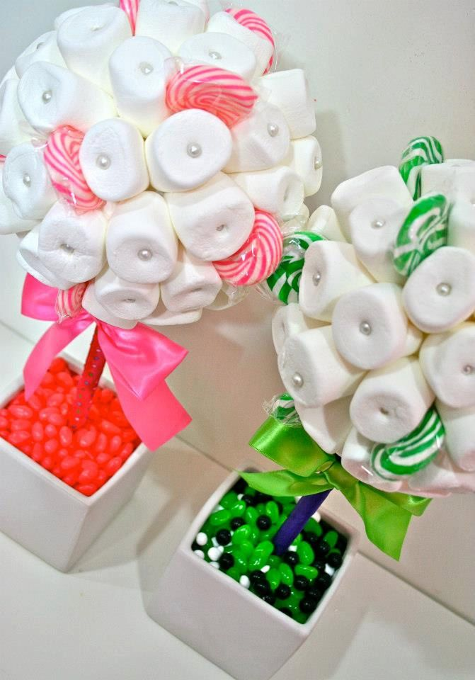 White Green or Pink Marshmallow  Lollipop by HollywoodCandyGirls, $49.99