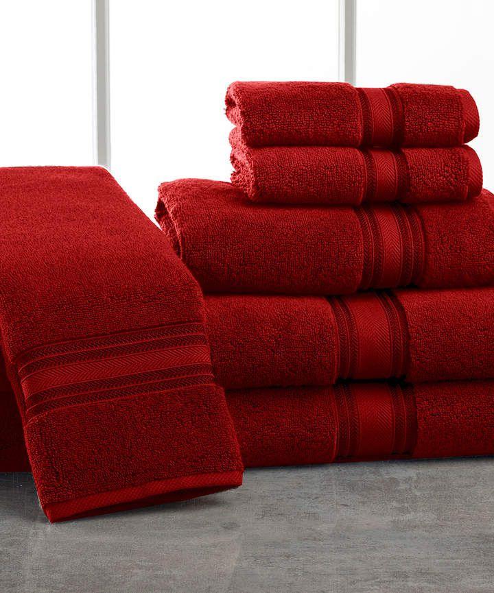 Burgundy Lezeth Six Piece Cotton Towel Set Towel Set Towel Cotton Towels