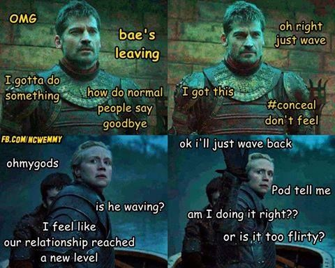 Game of Thrones funny meme Jaime and Brienne