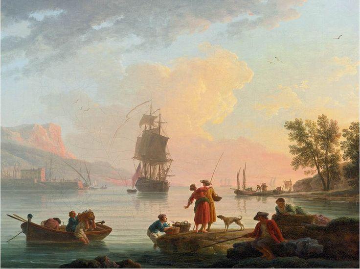 Claude-Joseph Vernet Coastal Scene 1781 Oil on canvas, 39 x 50 cm Private collection