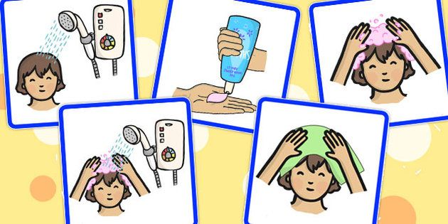 5 Step Sequencing Cards Washing Hair Jan April 16