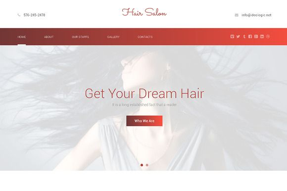 Check out Hair Salon Responsive One Page Theme by IceTemplates on Creative Market