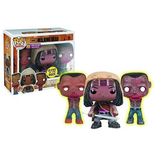 Walking Dead Michonne & Glow-In-Dark Pet Zombies Pop! Vinyl - Funko - Walking Dead - Vinyl Figures at Entertainment Earth