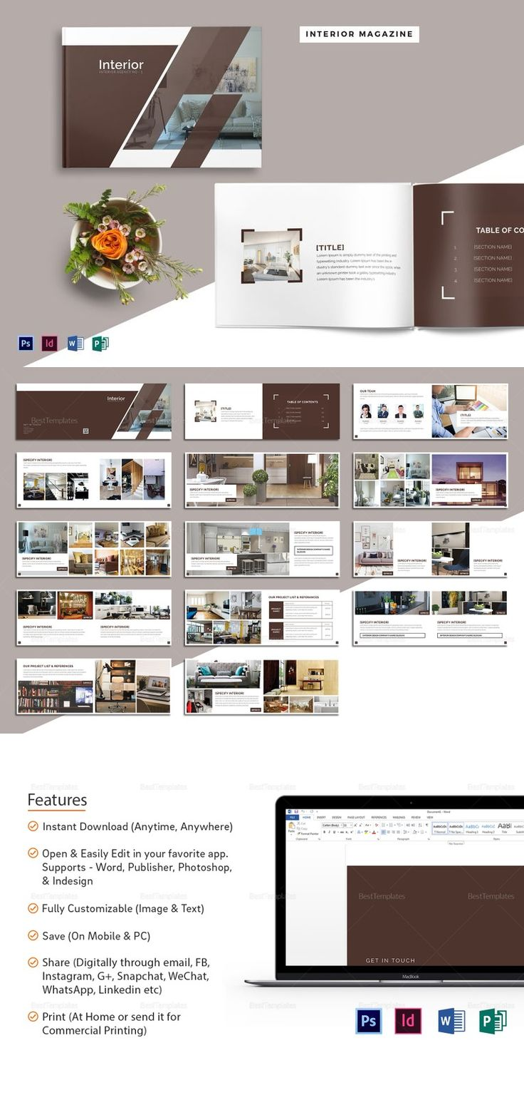 20 best ❱❱ Magazine Templates - Easy to Edit, Printable Layouts ...